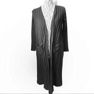 LuLaRoe knit longline cardigan w/ pockets medium